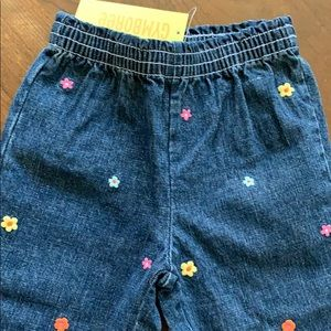 NWT Gymboree Embroidered Girl's Capris